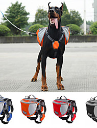 Chien Sac de transport / Dog Paquet Animaux de Compagnie Transporteur Etanche / Portable Rouge / Noir / Bleu / Orange Nylon