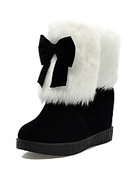 Women's Low Top Pull On High Heels Round Closed Toe Boots