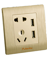 Dual USB Socket cinco buracos