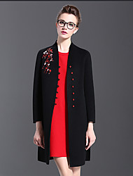 8907 # 2016 Middle-aged ladies new winter high-grade wool fleece coat jacket and long sections