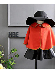 Girl's Casual/Daily Solid BlouseCotton Winter / Fall Orange