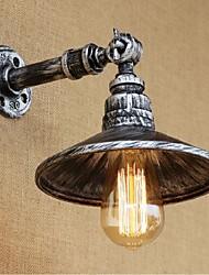 estilo industrial tubulação de água nordic parede lâmpada de parede AC 220V-240V 40w e27 light-prata