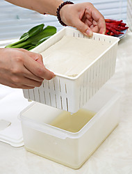 1pc la protection de l'environnement la préservation réfrigérateur alimental de la boîte de stockage de fromage de soja
