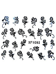 Flower Pattern Watermark Nail Sticker