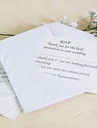 Non-personalized Flat Card Wedding Invitations Response Cards-25 Piece/Set Hard Card Paper