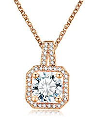 Antique Classic Small Vintage Necklace Cubic Zircon Diamond Pendant Necklaces AAA Zircon Women Jewelry Valentine's Gift