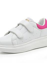 Fille-Extérieure / Décontracté / Sport-Rose / Blanc-Talon Plat-Confort-Sneakers-Similicuir