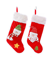 Christmas socks gift bag Christmas ornament size Christmas stockings gift candy velvet stockings