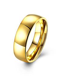 Ringe Ohne Stein Normal Schmuck Stahl Herren Ring 1 Stück,7 8 9 10 Goldfarben