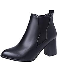 Для женщин Ботинки Армейские ботинки Полиуретан Зима Повседневные Для прогулок Армейские ботинки На эластичной лентеНа толстом каблуке На