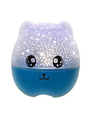 Cute Bear Shape Rotation LED Night Projector Lamp Light Decor Romantic Night Light Bedroom Lamp