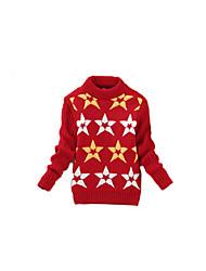 Girl's Casual/Daily Geometric Sweater & CardiganWool Winter Black / Red / Yellow / Gray