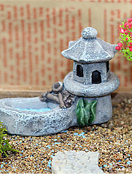 Pool Tower Restoring Ancient Ways Moss Fleshy Micro Landscape Ornaments Resin Decorative Furnishing Articles DIY Material