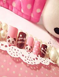 falsche Nagelprodukte Maniküre Patch nail Stück 24 Stück Bärenkarikaturkasten
