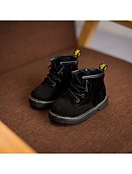 Para Meninos-Botas-ConfortoPreto Cinzento Verde Escuro-Couro de Porco-Casual