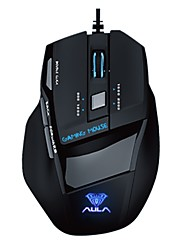 AULA gaming mouse soul killer ice version 7D professional  Multimedia dual-mode mouse Left hand apply 2000DPI 7keys