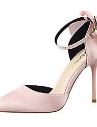Damen-High Heels-Kleid Party & Festivität-Leder-Stöckelabsatz-Komfort Club-Schuhe Light Up Schuhe-Schwarz Rosa Rot Grau Gold Burgund