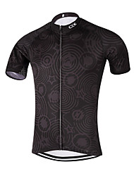 Sports QKI Cycling Jersey Unisex Short SleeveBreathable / Quick Dry /Anatomic Design/ Back Pocket /Reflective stripe