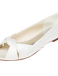 Women's Flats Spring / Summer Others Stretch Satin Wedding / Party & Evening / Dress Flat Heel Others Ivory / White Others