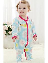 Chemisier bébé Imprimé Décontracté / Quotidien-Coton / Polyester-Hiver / Automne-Bleu / Violet / Blanc / Gris