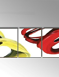 Hand-Painted Abstract Oil Painting 3 Panels Canvas Wall Art For Home Decor