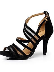 Customizable Women's Dance Shoes Flocking Flocking Latin / Dance Sneakers / Salsa Sandals Stiletto HeelPractice