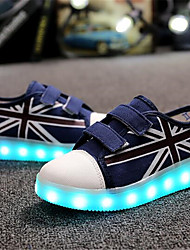 Boy's Sneakers Fall Comfort Tulle Casual Flat Heel Magic Tape Blue Red Others