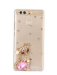 motif renard diy pc étui rigide pour p9 de Huawei Plus Lite honneur lite p8 8 7 6 6plus 5c 4x 5x 4a 4c s'accoupler 9 8 7