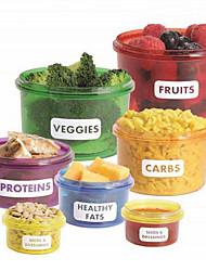 7pcs много совершенным части обеда мило коробка контейнеры управления посуда для хранения продуктов питания легкий способ похудеть,