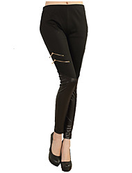 Women Solid Color Legging,Polyester
