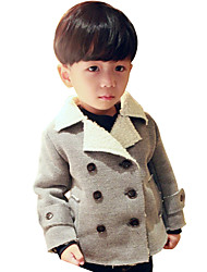 Boy's Cotton Fashion Spring/Fall/Winter Casual/Daily Solid Color Long Sleeve Thicken Padded Jacket Coat