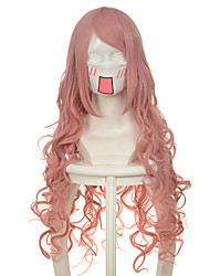 100cm Vocaloid Series Luka Lacus Pink Curly Halloween Wig Synthetic Wigs Costume Wig