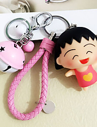Cartoon Velvet Cherry Small Balls Key Chain Car Braided Rope Bag Key Chain Gift Pendant