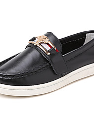 Girls' Loafers & Slip-Ons Comfort Leather Casual Comfort White Black Dark Blue Under 1in