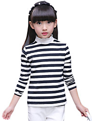 Girl's Casual/Daily Striped TeeCotton / Spandex Spring / Fall Multi-color