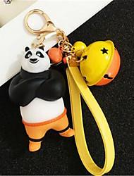 clés de voiture créative panda poupée porte-clés
