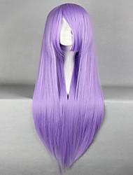 promoção Saint Seiya Saori Kido Athena 80 cm de comprimento reta roxo anime cosplay peruca