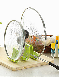 Kitchen Pot Pan Cover Lid Ladle Stand Holder for Cook Chef Housewife Color Random