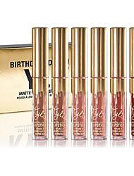 New Cosmetics Mini Matte Lipstick Kit Birthday Edition 6Pcs Pack