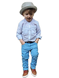 Boy Foreign Trade In Europe And The Tall Gentleman Fashion Pants Two-Piece Shirt