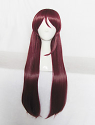 Love Live Sunshine Aqours Sakurauchi Riko Long Wine Red Cosplay Wig