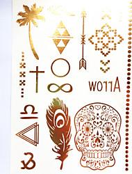1 Tatouages Autocollants Séries bijoux Autres Tatouage Temporaire Tatouages temporaires