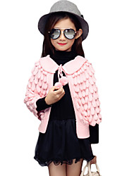 Girl's Casual/Daily Solid Sweater & CardiganPolyester Fall Pink / Red