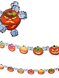 1PC 2.4M The Haunted House Bar Scene Props Halloween Pumpkins Skeleton Garland Decoration Supplies