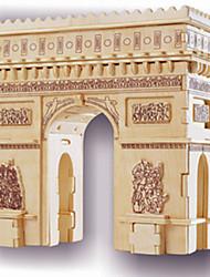 Пазлы Деревянные пазлы Строительные блоки DIY игрушки известные здания 1 Дерево Со стразами