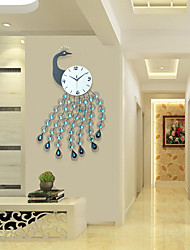 Moderne/Contemporain Niches Horloge murale,Autres Acrylique / Métal 93*56cm Intérieur Horloge