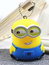 Creative Cartoon Lovely Couple Large White Key Chain Small Yellow Bag Pendant Men And Women Car Gifts