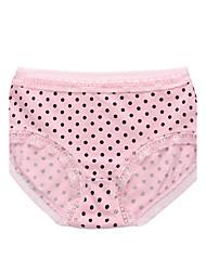 Femme Imprimé Points Polka Sous-vêtements Ultra Sexy Slips-Coton