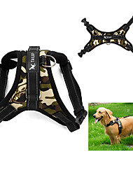 Dog Harness Adjustable/Retractable / Vest Camouflage / Leopard Red / Black / Multicolor Fabric