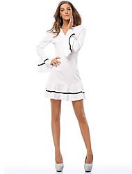 Ms. Fashion Straight Sskirt  Waist Round Neck Simple Style Sexy Short Skirts